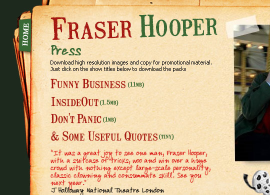 Fraser Hooper Website