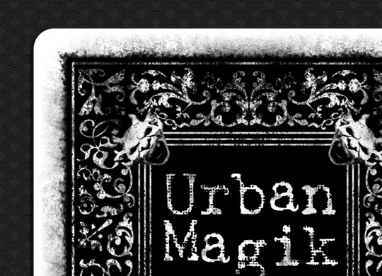 Urban Magik - Playing card design - The back